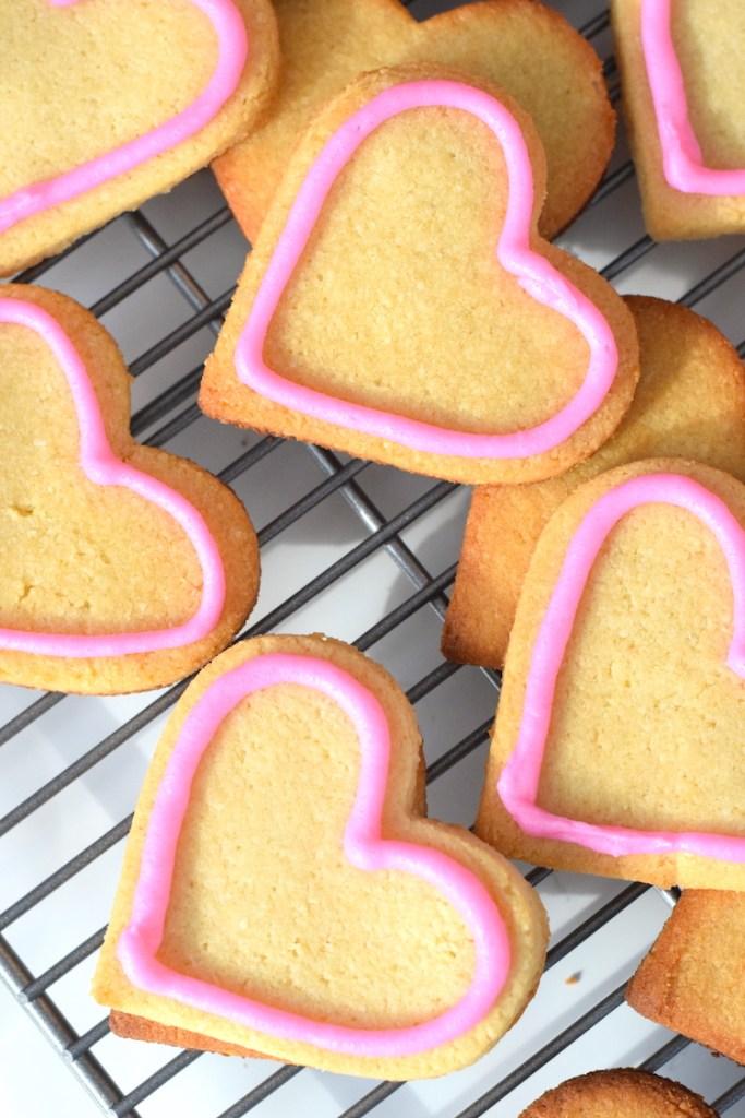 keto valentine's day sugar cookies