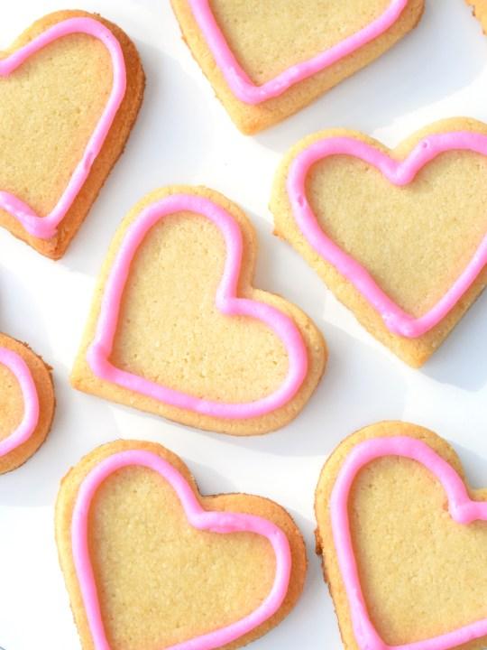 keto valentines heart sugar cookies