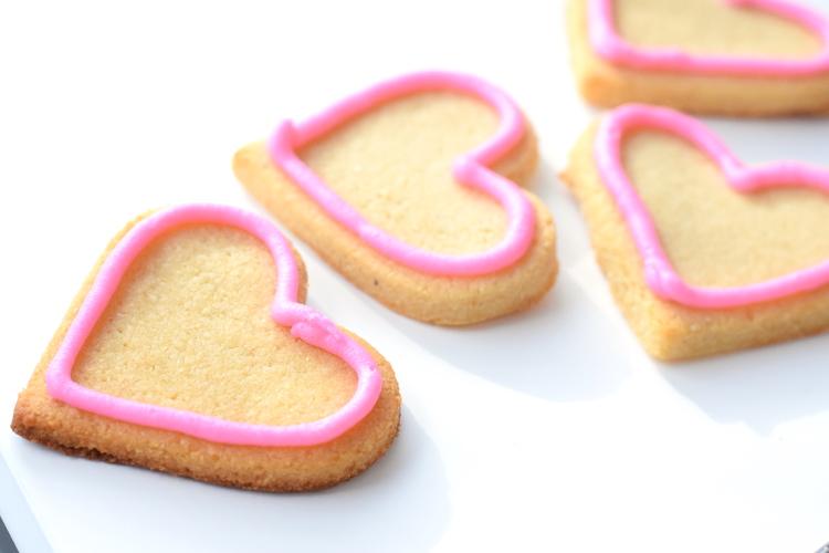 low carb valentines sugar cookies