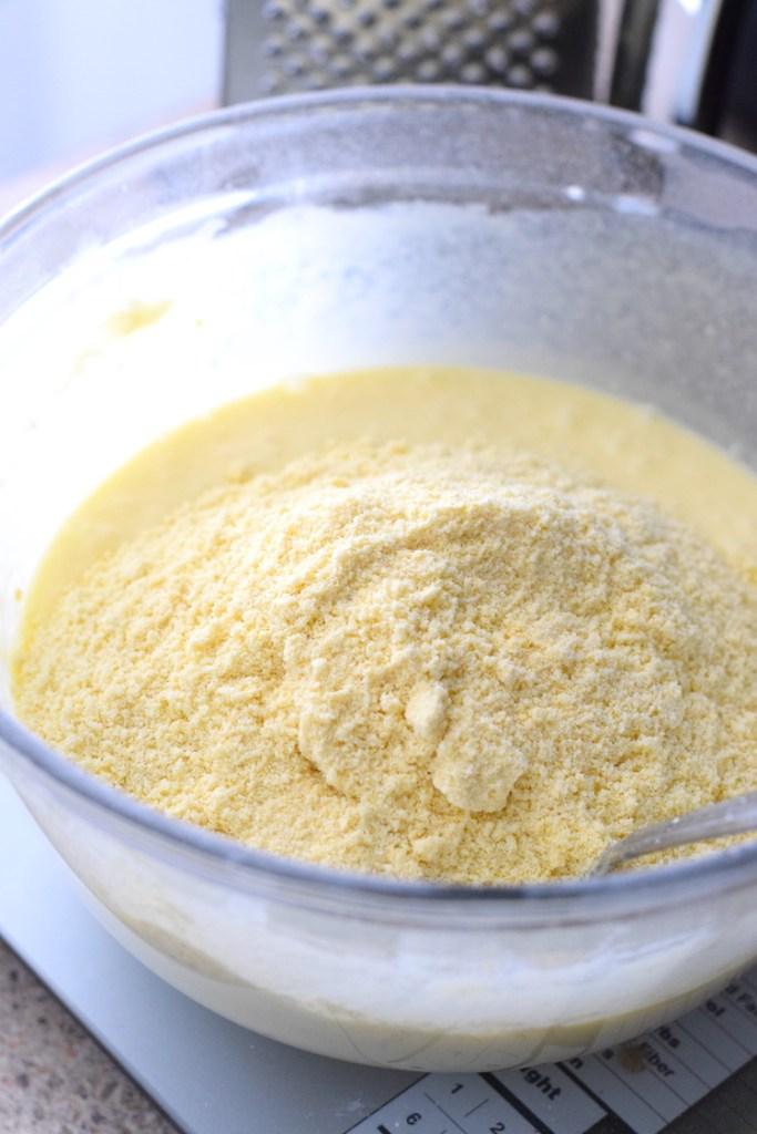 almond flour, lupin flour, eggs, butter, cream