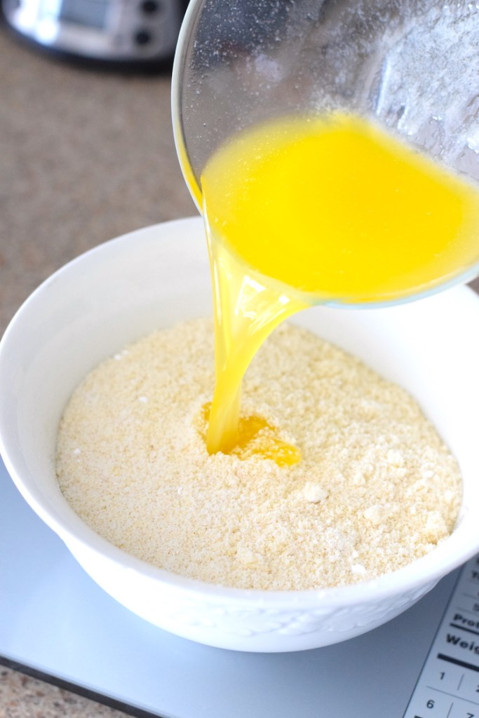 almond flour and melted butter