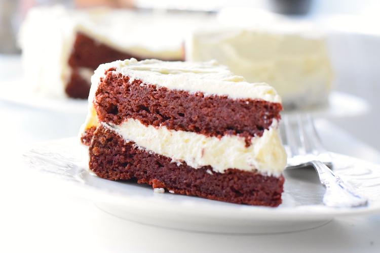 almond flour red velvet cake