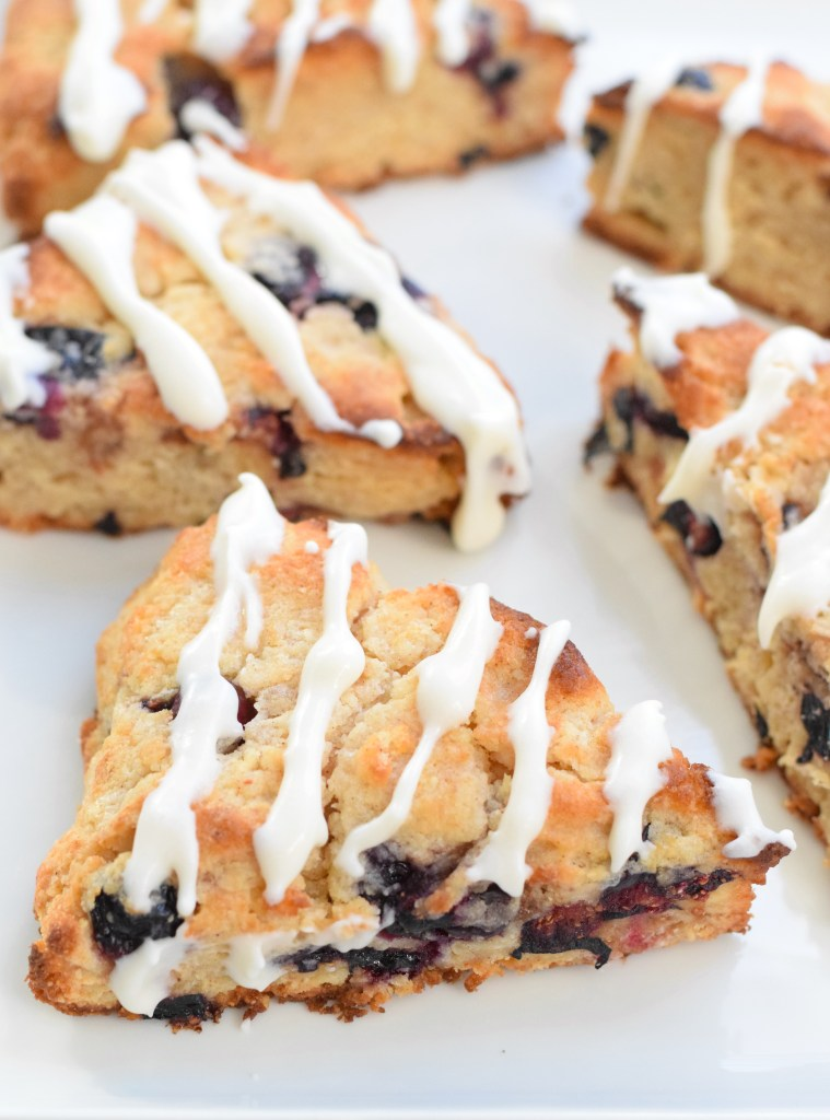 coconut flour blueberry scones