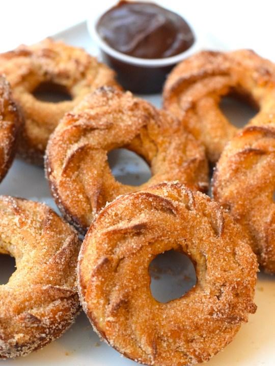 Baked Keto Churro Donuts