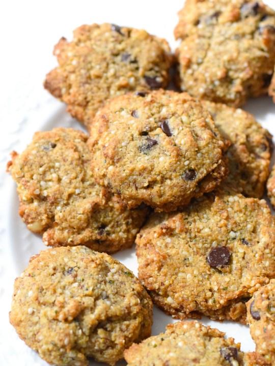 "Keto ""Oatmeal"" Chocolate Chip Cookies"