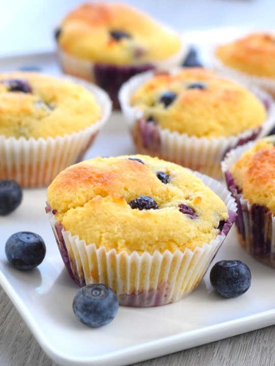 Low Carb Keto Lemon Blueberry Muffins
