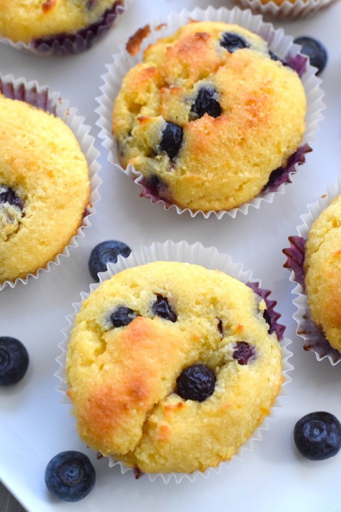 almond flour lemon blueberry muffins