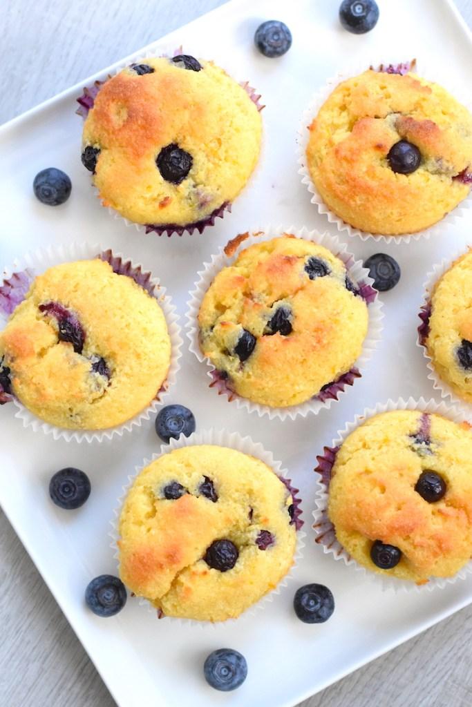coconut flour lemon blueberry muffins