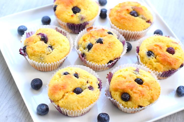 sugar free lemon blueberry muffins