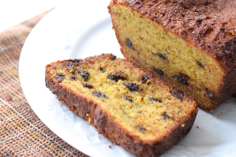 low carb chocolate chip banana bread