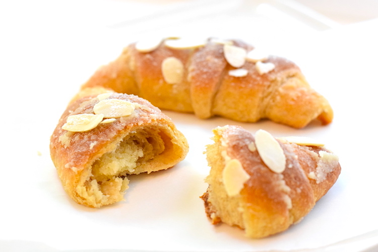 keto almond paste croissants