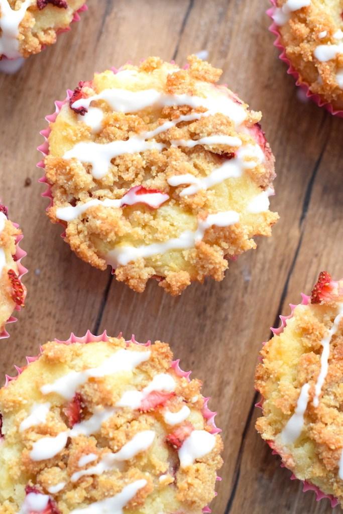 keto strawberry cheesecake muffins