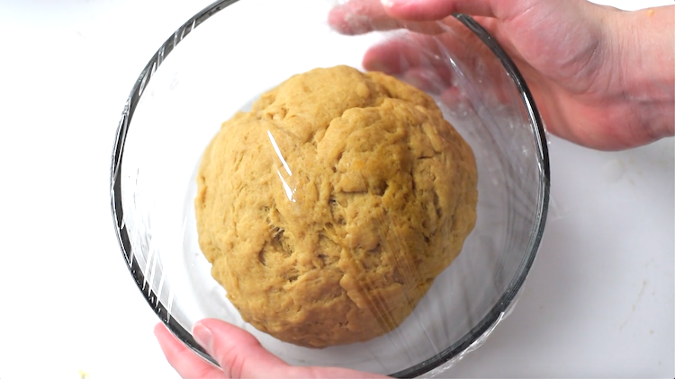 lupin flour dough rising