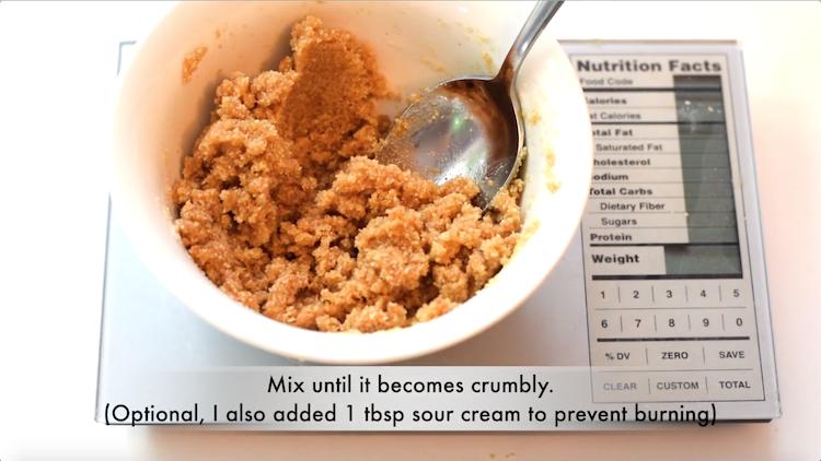 almond flour crumble recipe