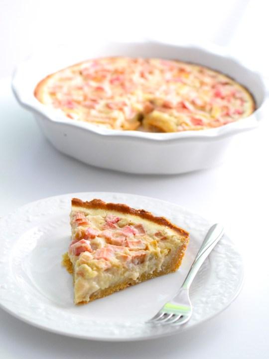 Keto Rhubarb Custard Pie