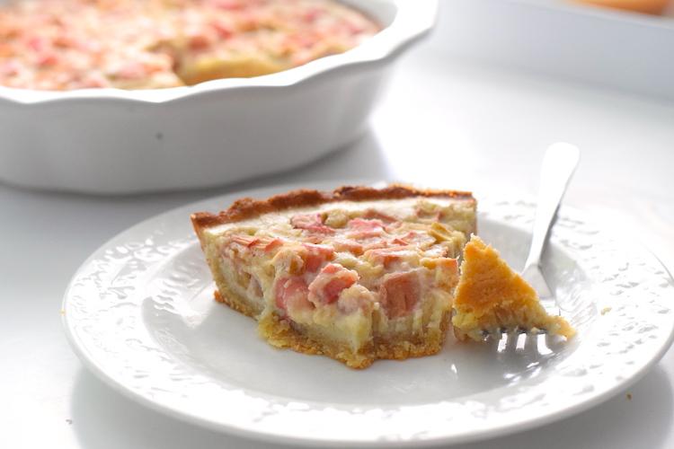 keto rhubarb custard pie recipe