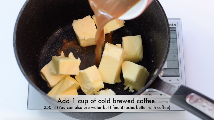 butter, cocoa powder
