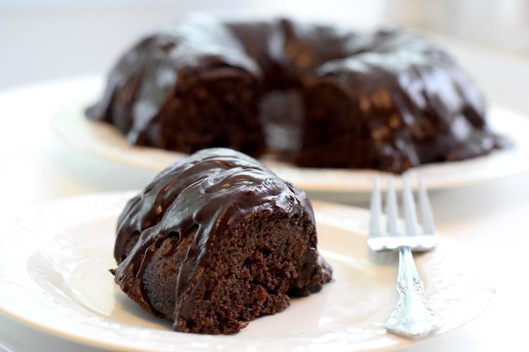 keto chocolate glazed bundt cake
