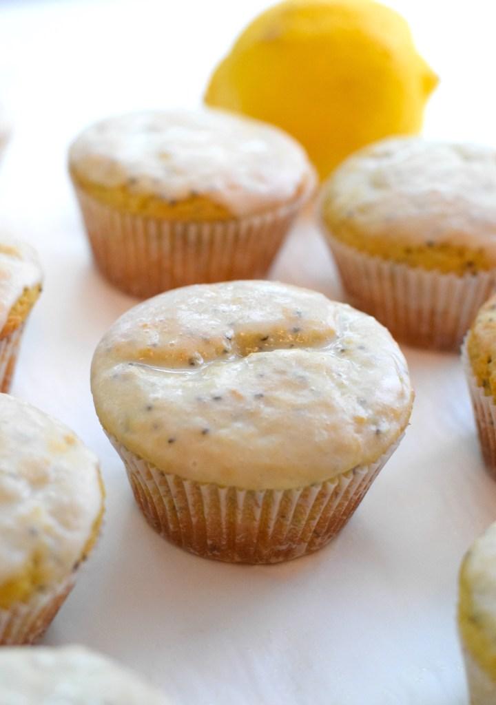 keto glazed lemon muffins