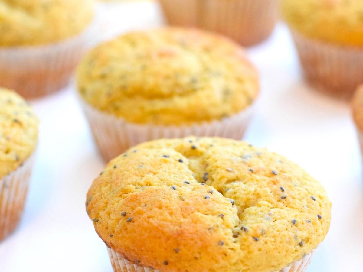 keto lemon chia seed muffins