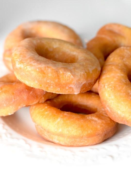 Keto Sour Cream Glazed Donuts