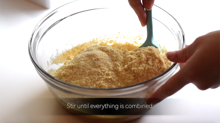 almond flour, monkfruit sweetener, eggs