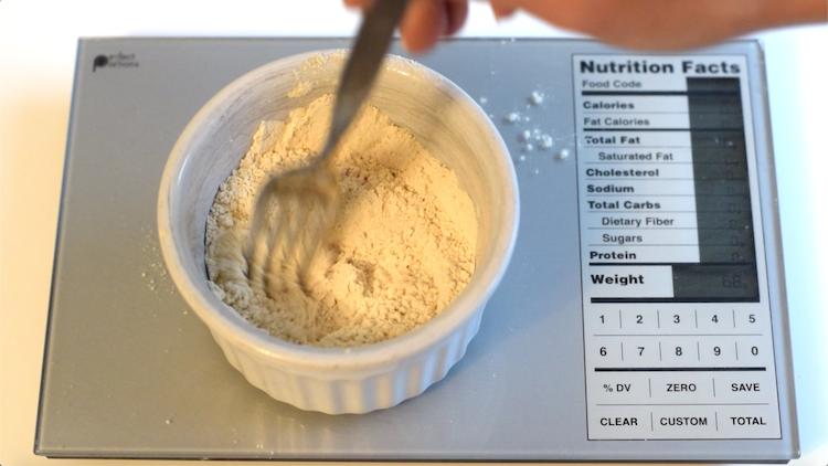 cinnamon, keto flour and monkfruit