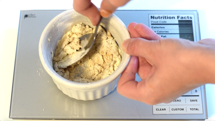 mixing keto dough